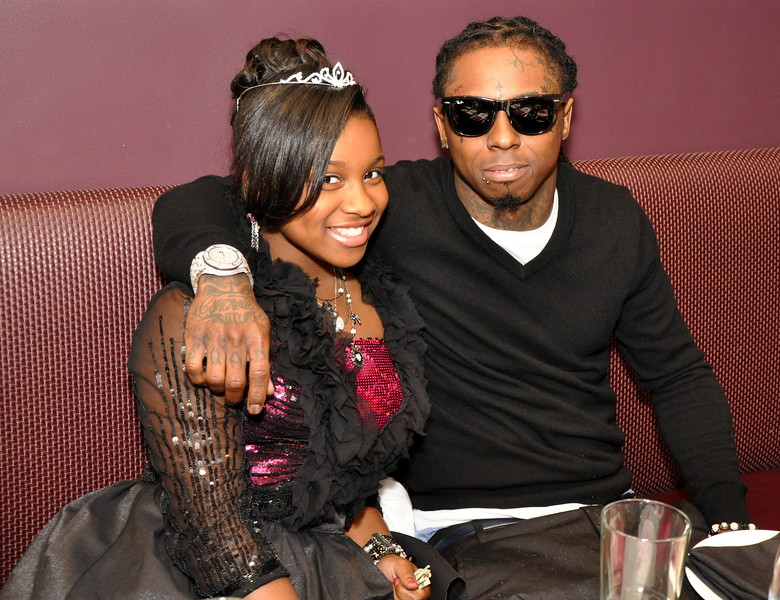 Lil Wayne's daughter with he ex-wife Toya, celebrated her 12th
